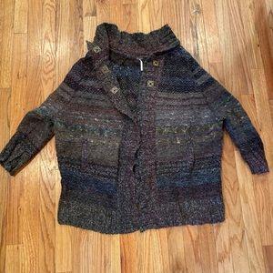 Free People Cardigan Chunky Sweater